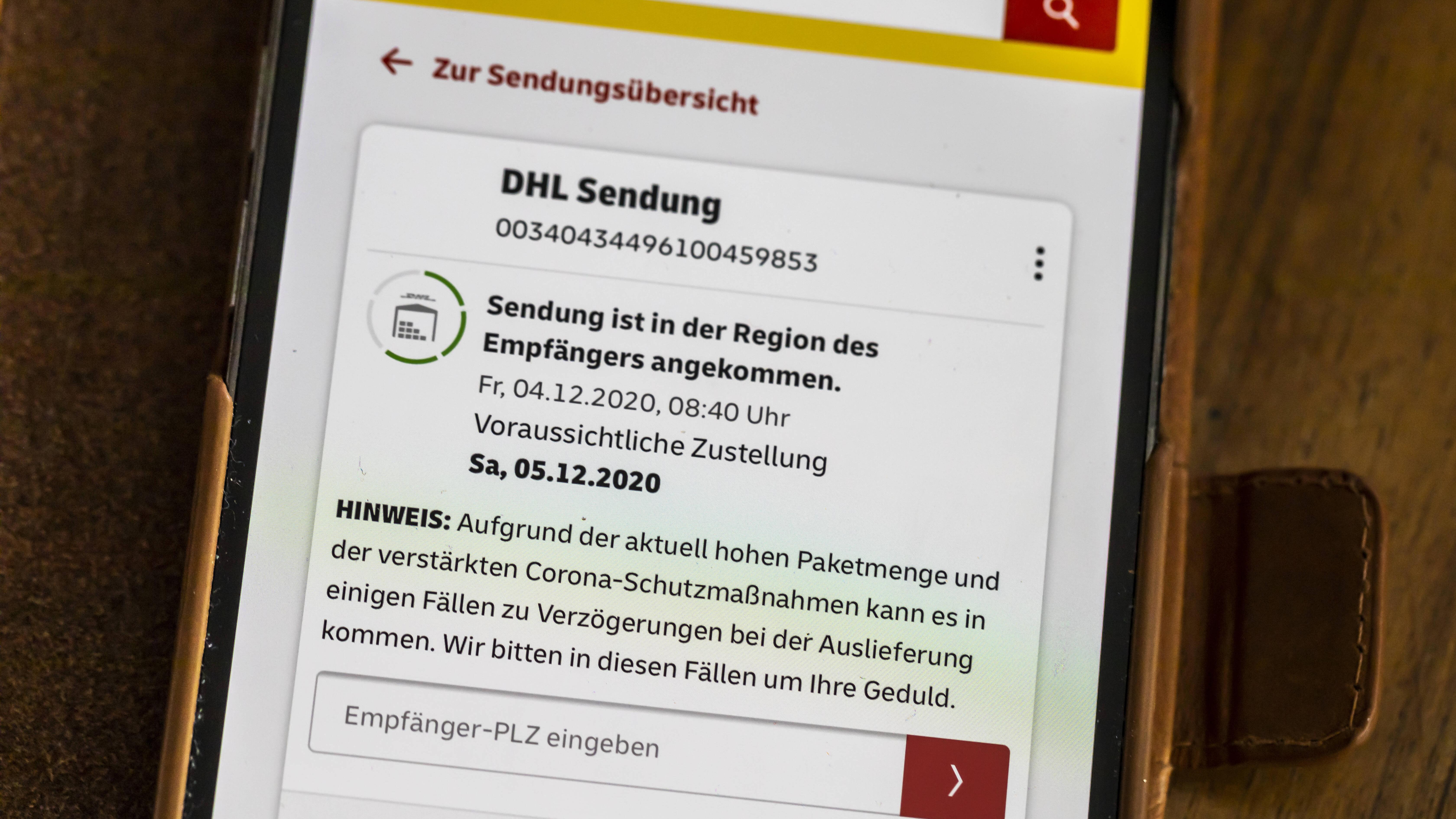 Sendungsverfolgung bieten viele Dienstleister auch per App
