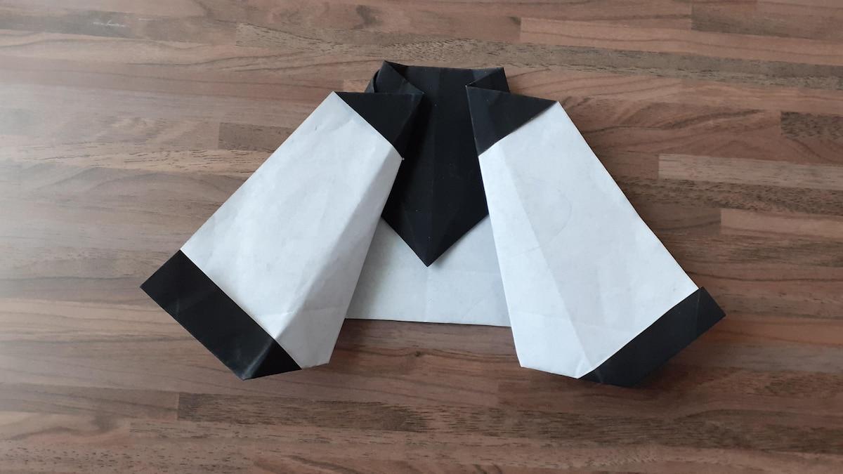 Nun sollte Ihr Origami von hinten so aussehen.