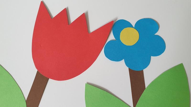 Blumen basteln mit Kindern - so geht's