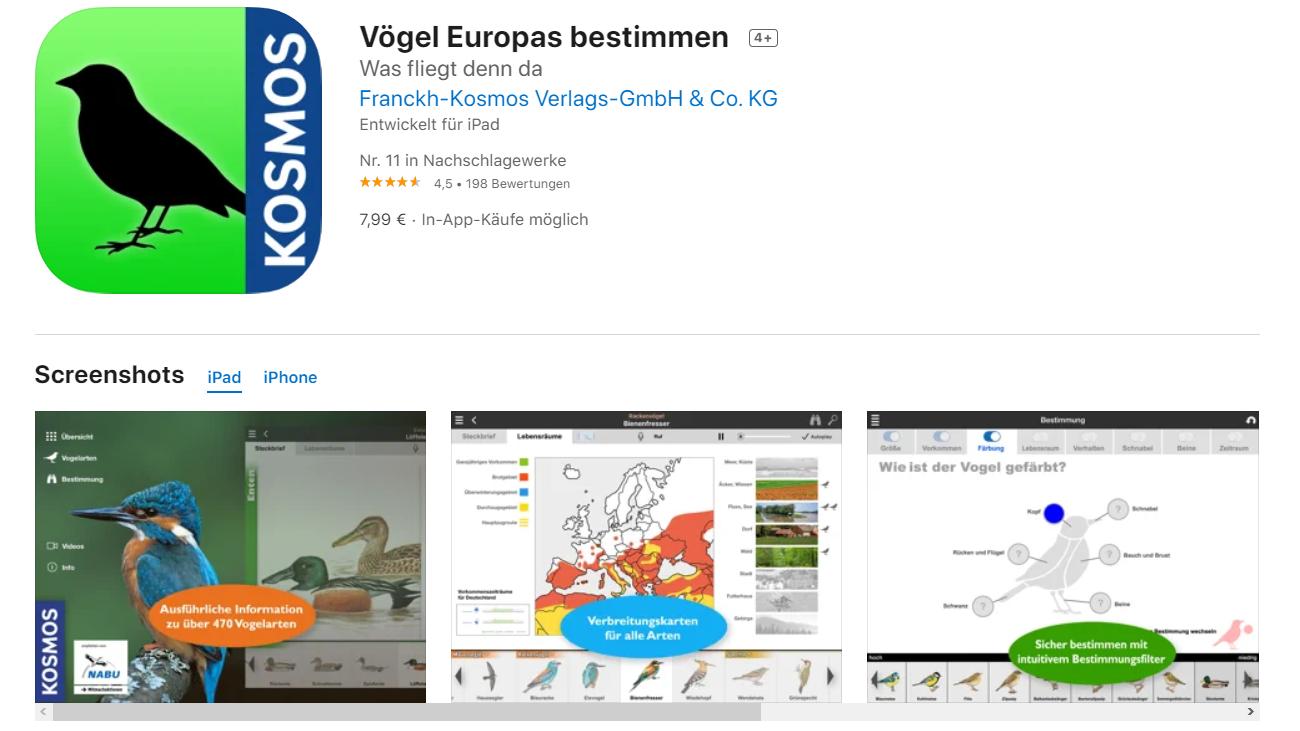 Vögel Europas bestimmen vom Kosmos Verlag