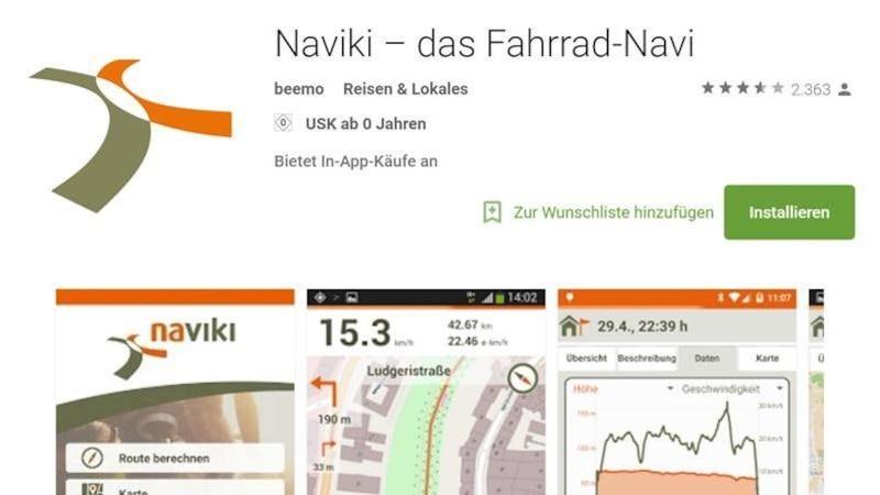 Fahrrad-Navi Naviki