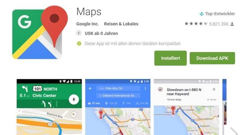 Google Maps: Fahrrad-Navi