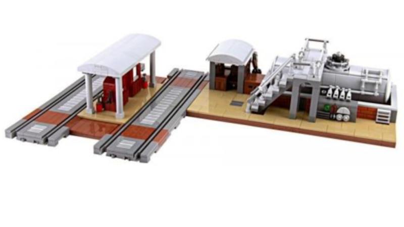 Mit Sets der Lego-Alternative Bluebrixx lassen sich originalgetreue Modellbahnen bauen
