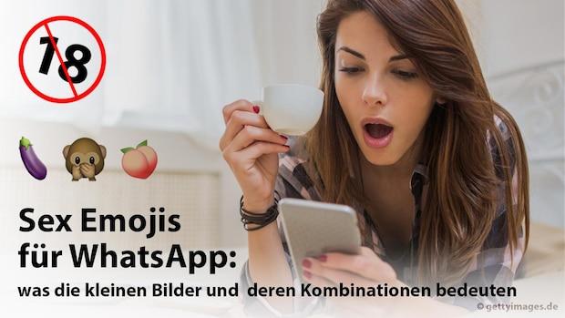 Sex Emojis für WhatsApp: So chatten Sie richtig