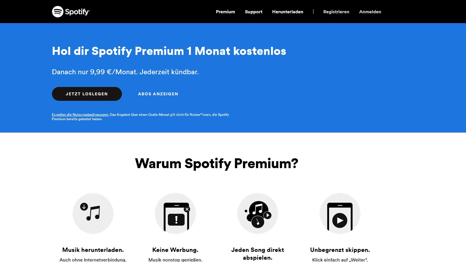 Die Kosten für Spotify Premium variieren je nach Abo-Modell