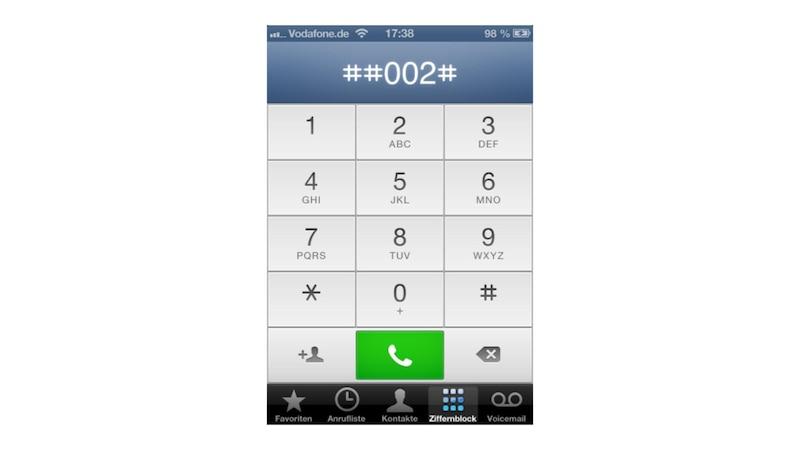 iPhone Voicemail per Tastatur deaktivieren