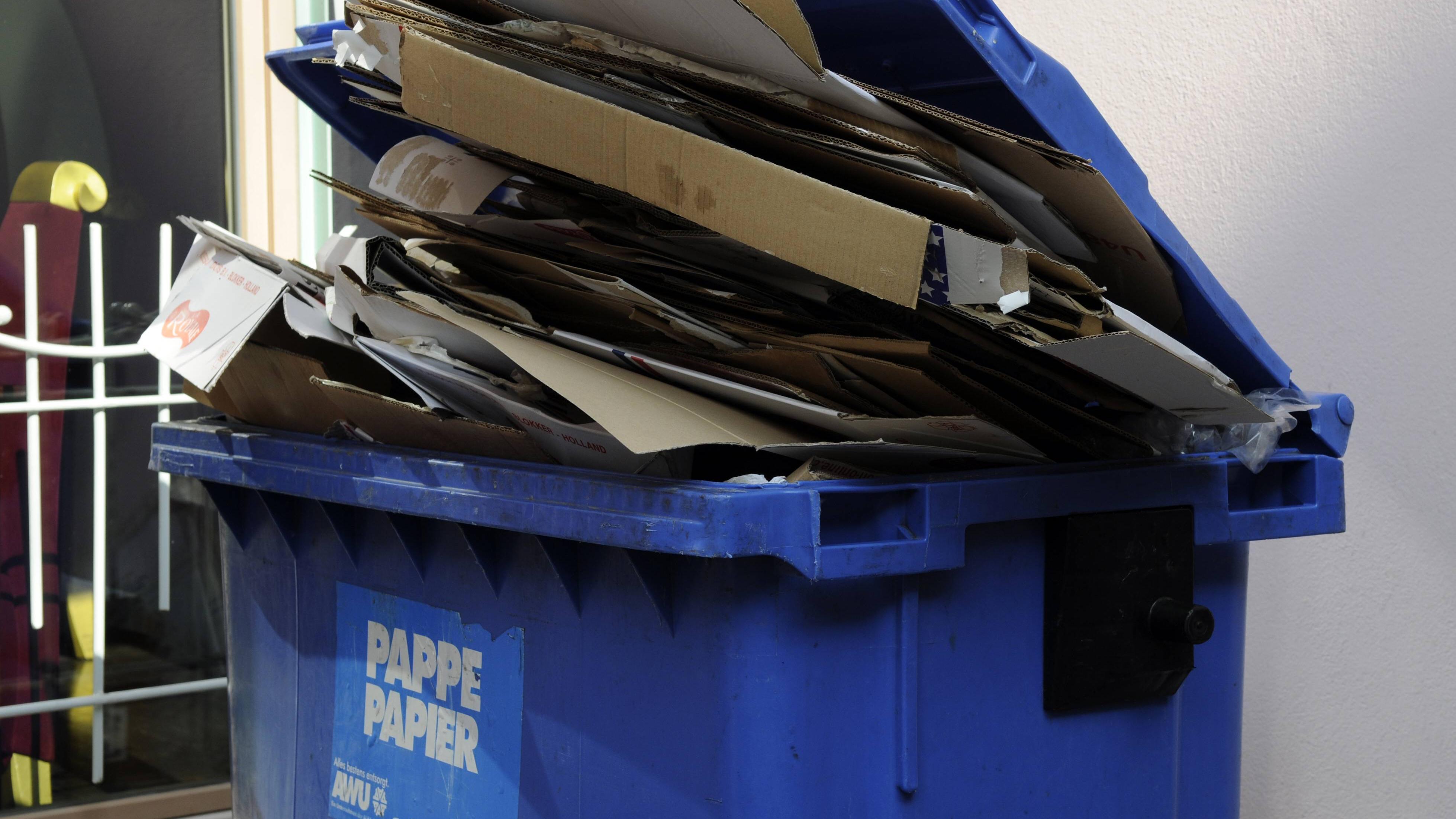 Kartons sollten Sie vor der Entsorgung möglichst in kleine Stücke zerreißen.