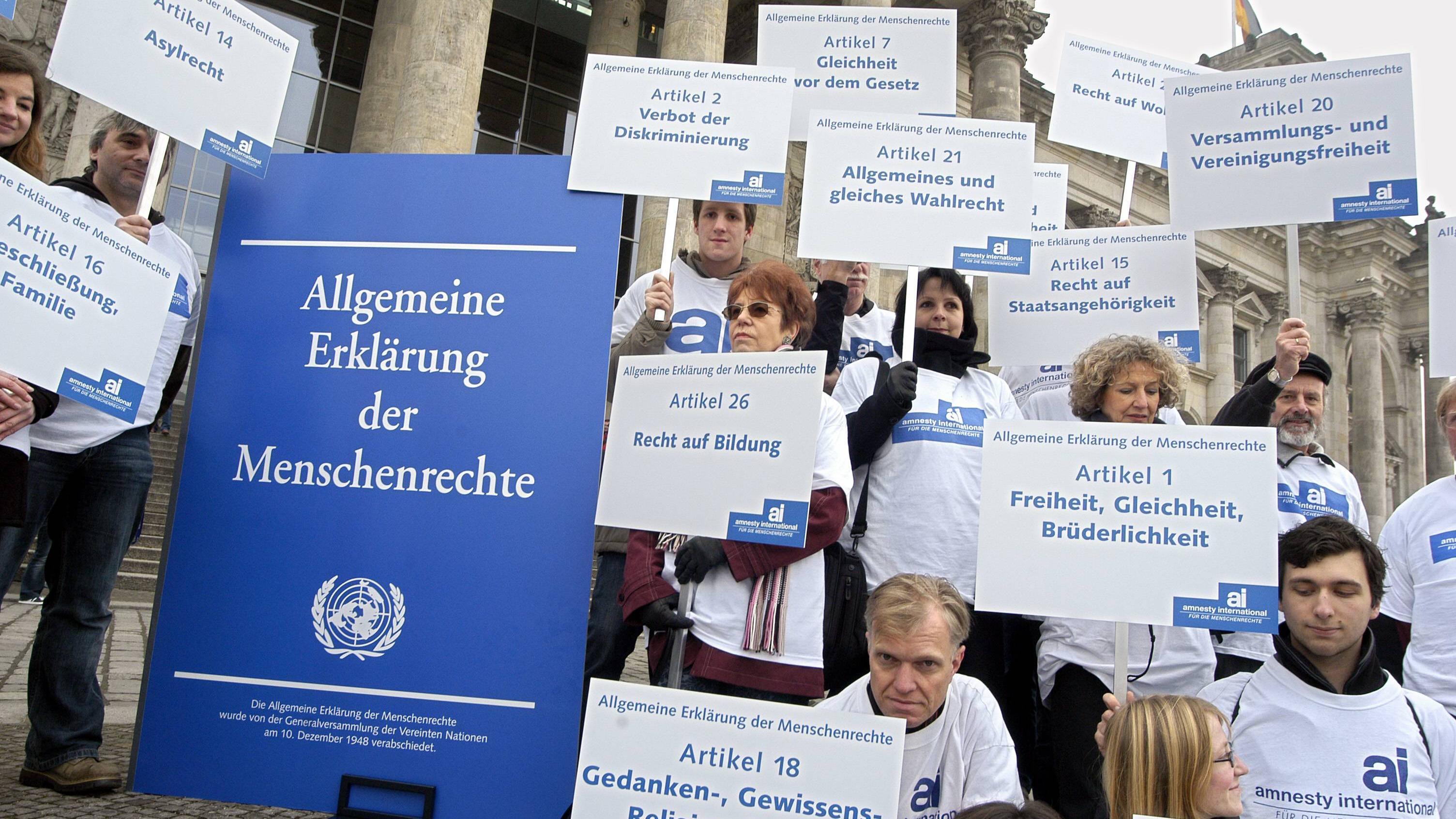 Welche Menschenrechte gibt es? Alle Menschenrechte auf einen Blick