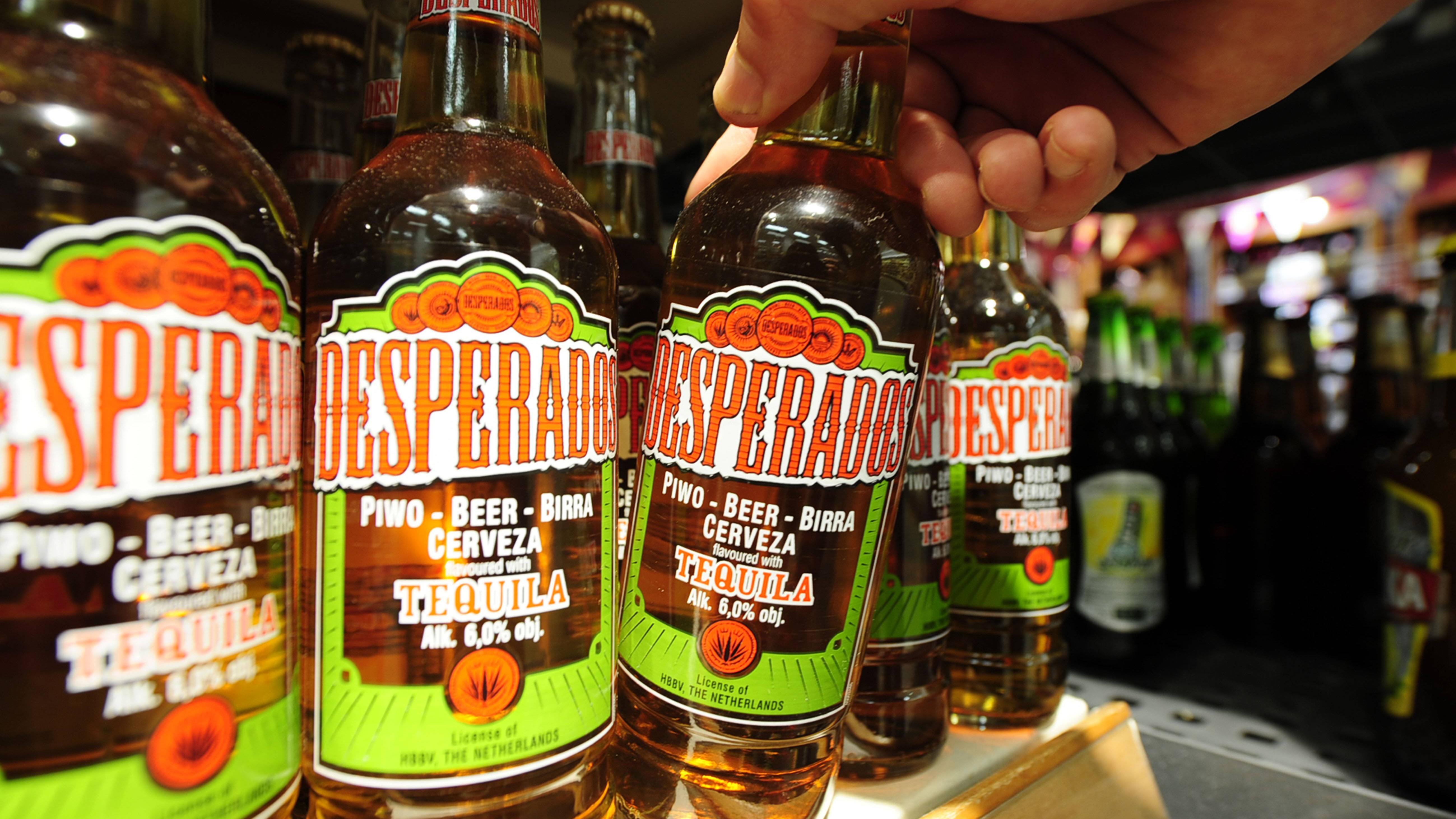 Für Desperados Flaschen ist der Pfandpreis größenabhängig.