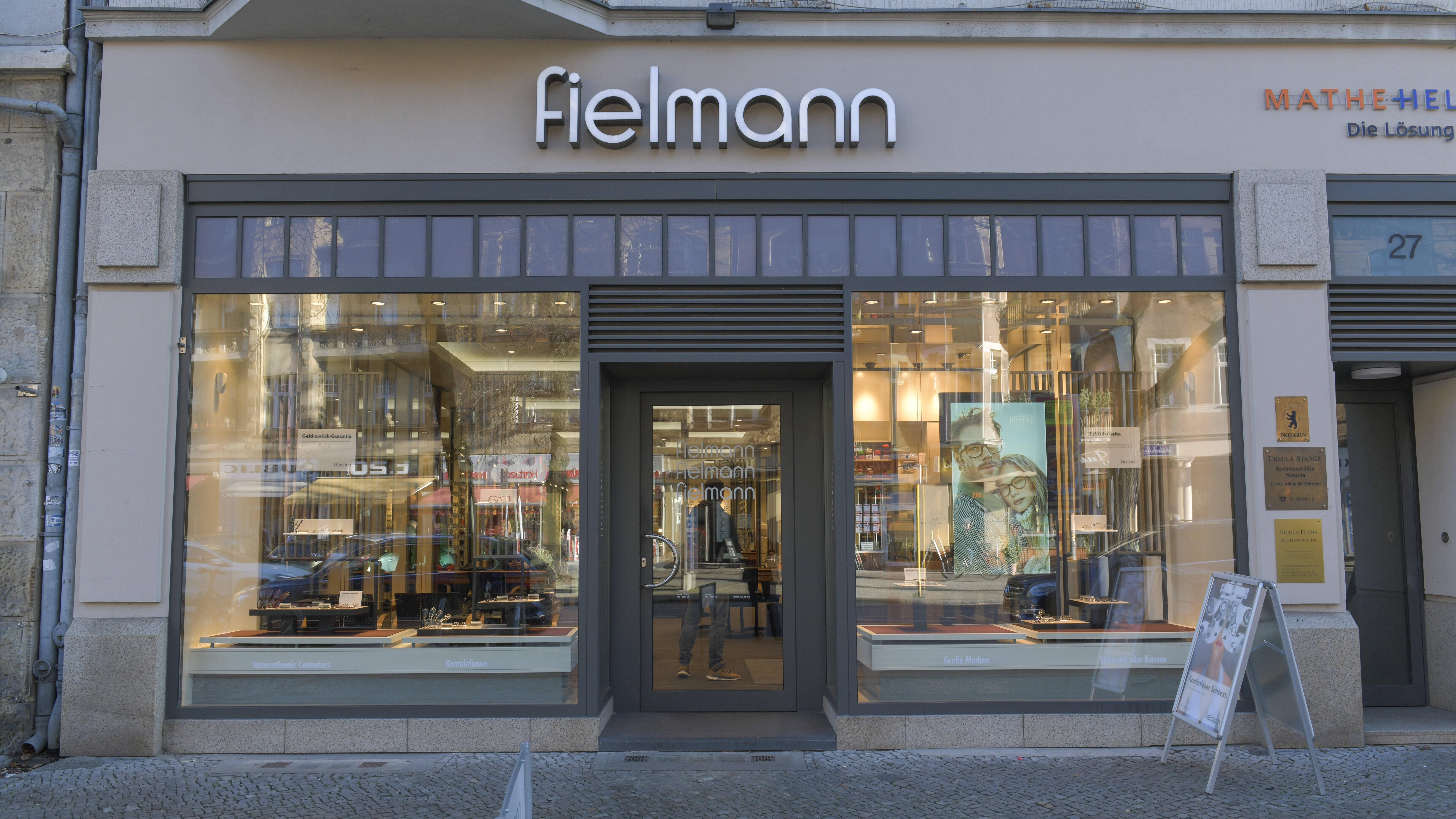 Fielmann bietet auch hochmoderne Sehtests an.