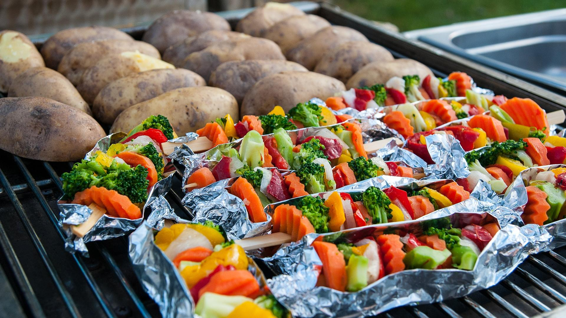 Auch vegetarisch kann man lecker grillen.