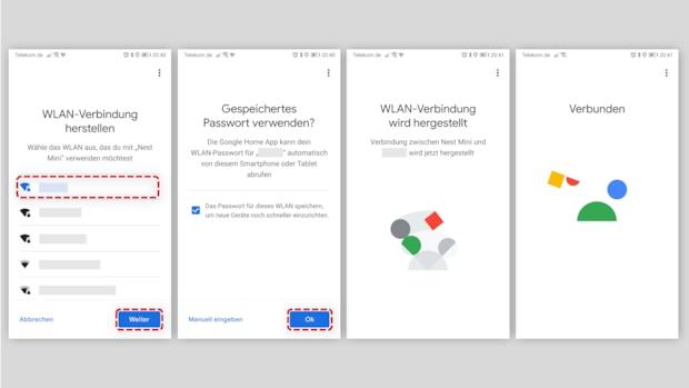 Google Nest Audio einrichten - WLAN Verbindung