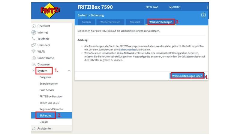 Ihre Fritzbox können Sie über den Browser oder das Telefon resetten.
