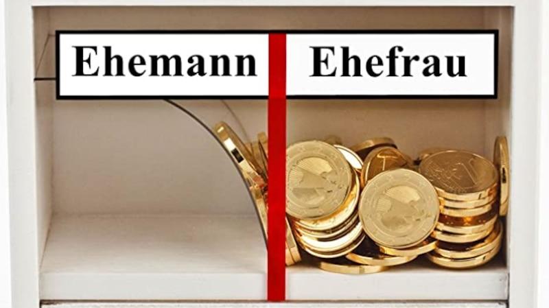 Falls Sie ein individuelles Geschenk für ein Ehepaar suchen können Sie auch eine Spardose für die zwei suchen, die nur für die Ehefrau befüllt werden kann.