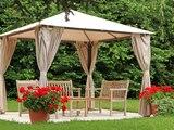 Pergolas sind fest installierte Pavillons und spenden Schutz vor der Sonne.