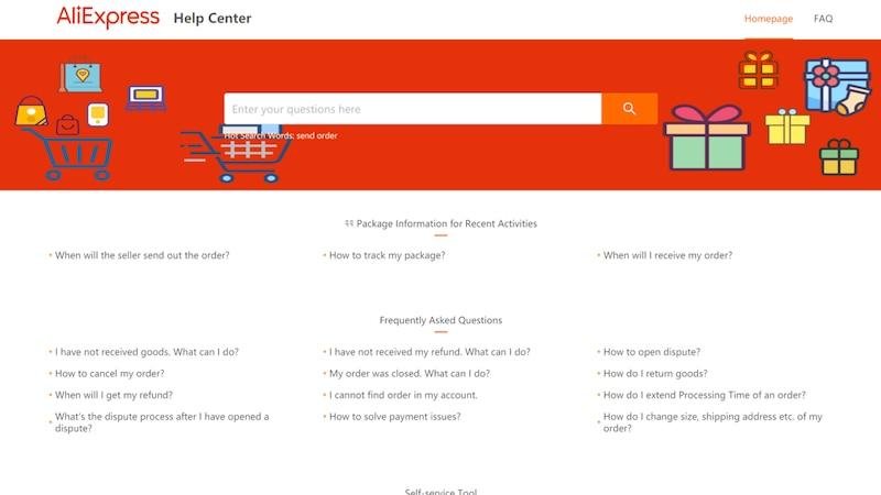 AliExpress Kundenservice: Das Help Center