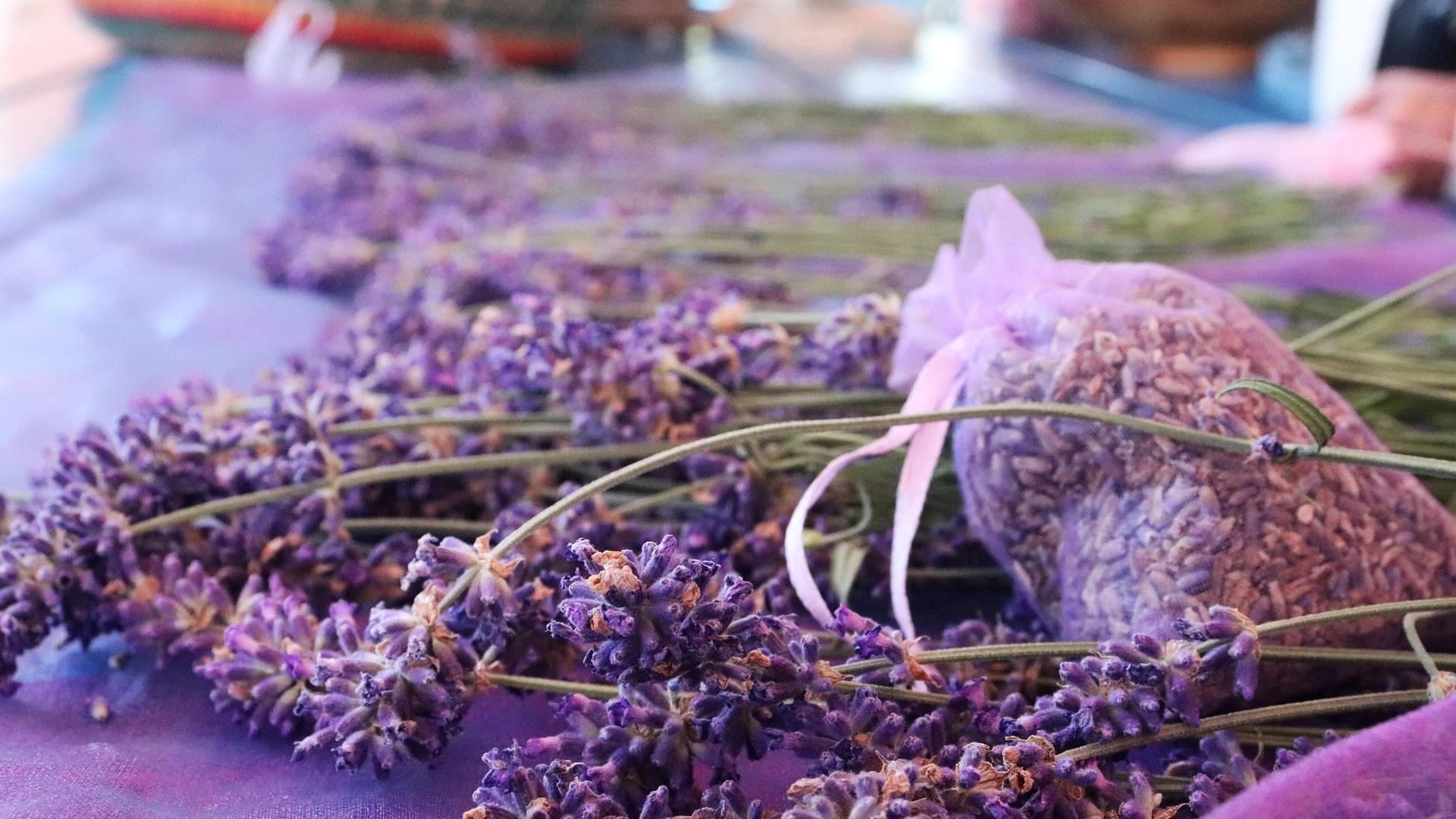Lavendelsäckchen sind ein bewährtes Hausmittel, um Mehlmotten wieder loszuwerden.