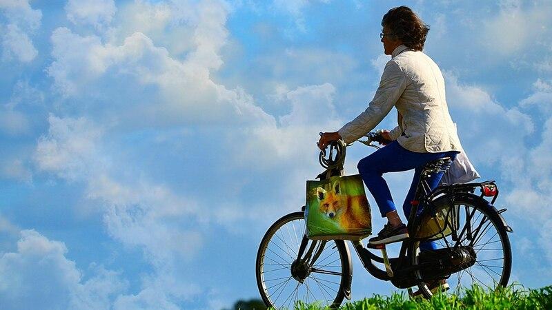 Fahrradfahren bringt Nachhaltigkeit im Alltag