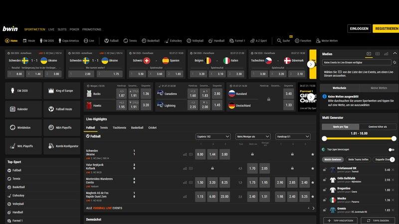 Auf der Webseite von Bwin sehen Sie direkt alle Informationen für ihre Wetten.