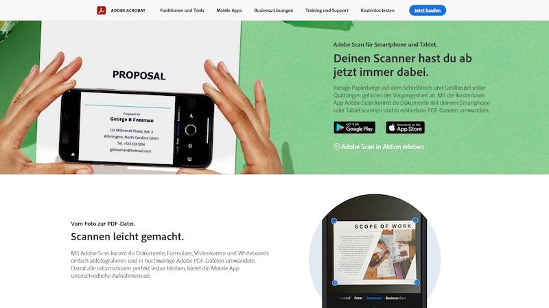 Dokumenten-Scanner-App von Adobe