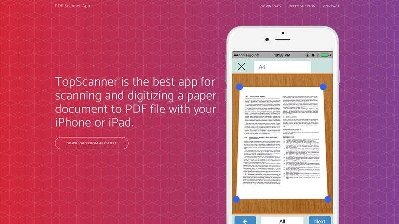 Dokumenten-Scanner-App TopScanner für iOS
