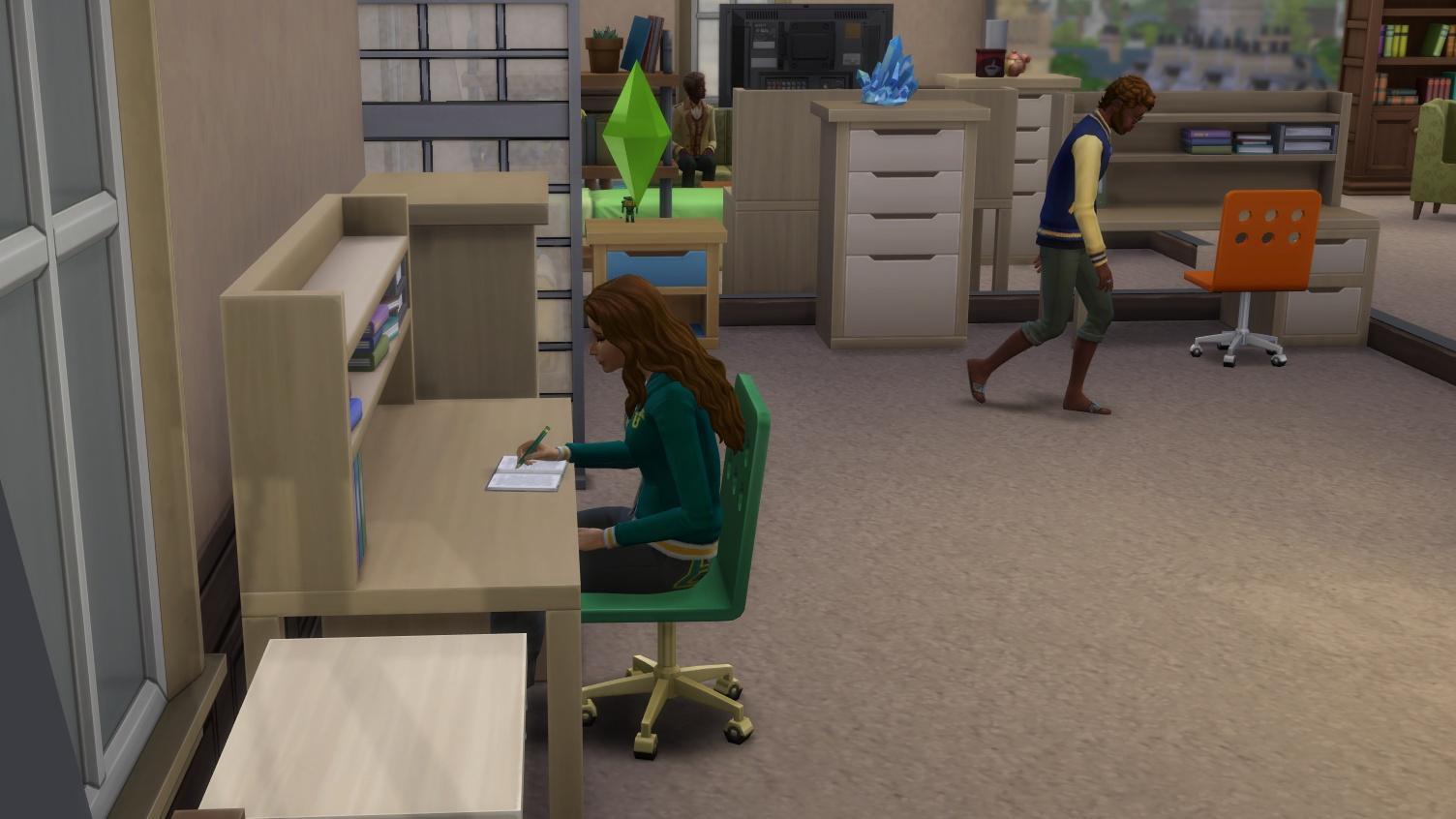 Es lohnt sich immer, wenn Ihre Sims für die Uni lernen.