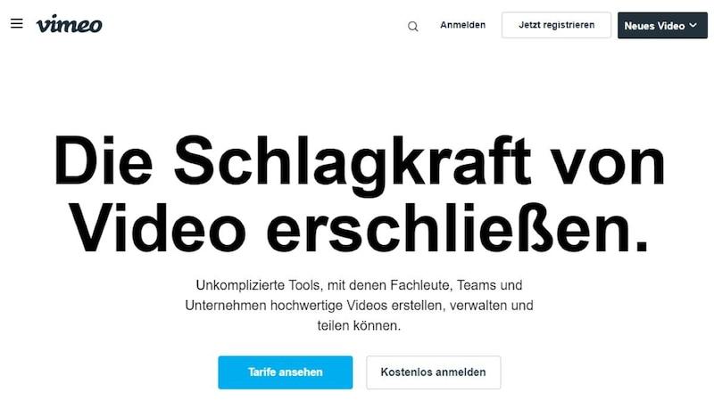 Vimeo ist eine kostenpflichtige Alternative zu YouTube.