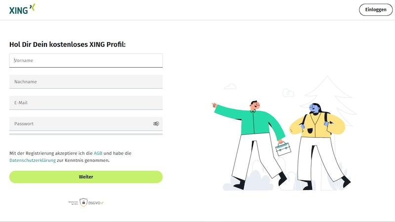 Xing Profil erstellen: So registrieren Sie sich