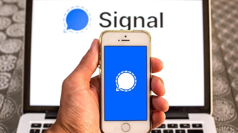 Mit Signal können Sie auch hochauflösende Bilder verschicken.