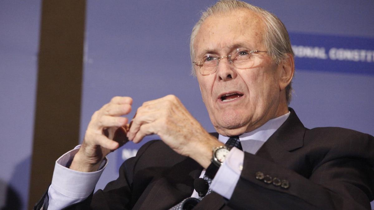 US-Politiker Donald Rumsfeld ist tot. Er führte die USA maßgeblich in den Irak-Krieg.