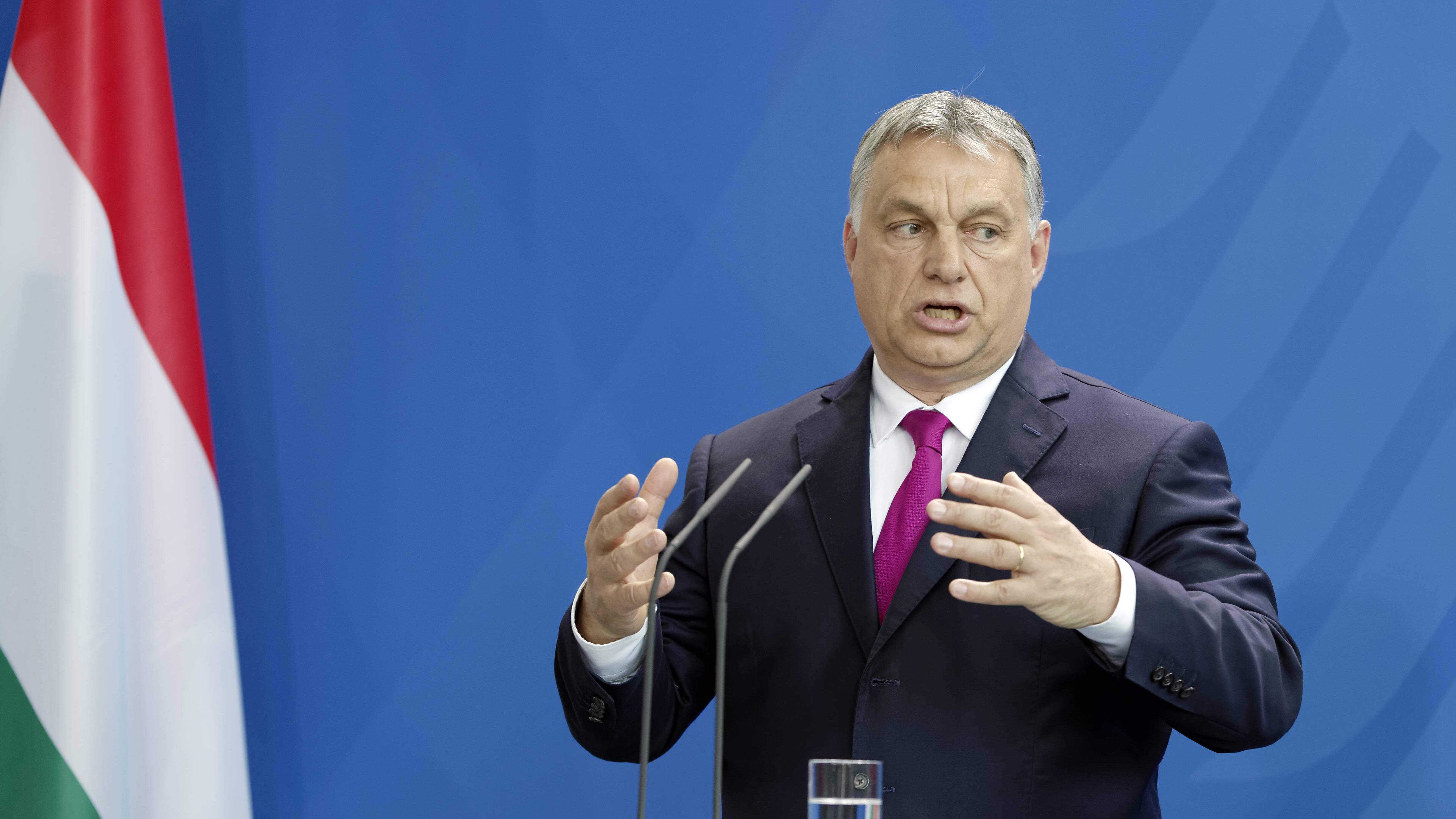 2018: Ungarns Ministerpräsident Viktor Orban spricht im Kanzleramt in Berlin