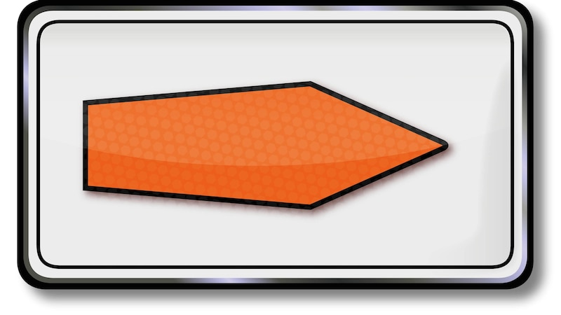 Oranger Pfeil: Was bedeutet das Verkehrszeichen?