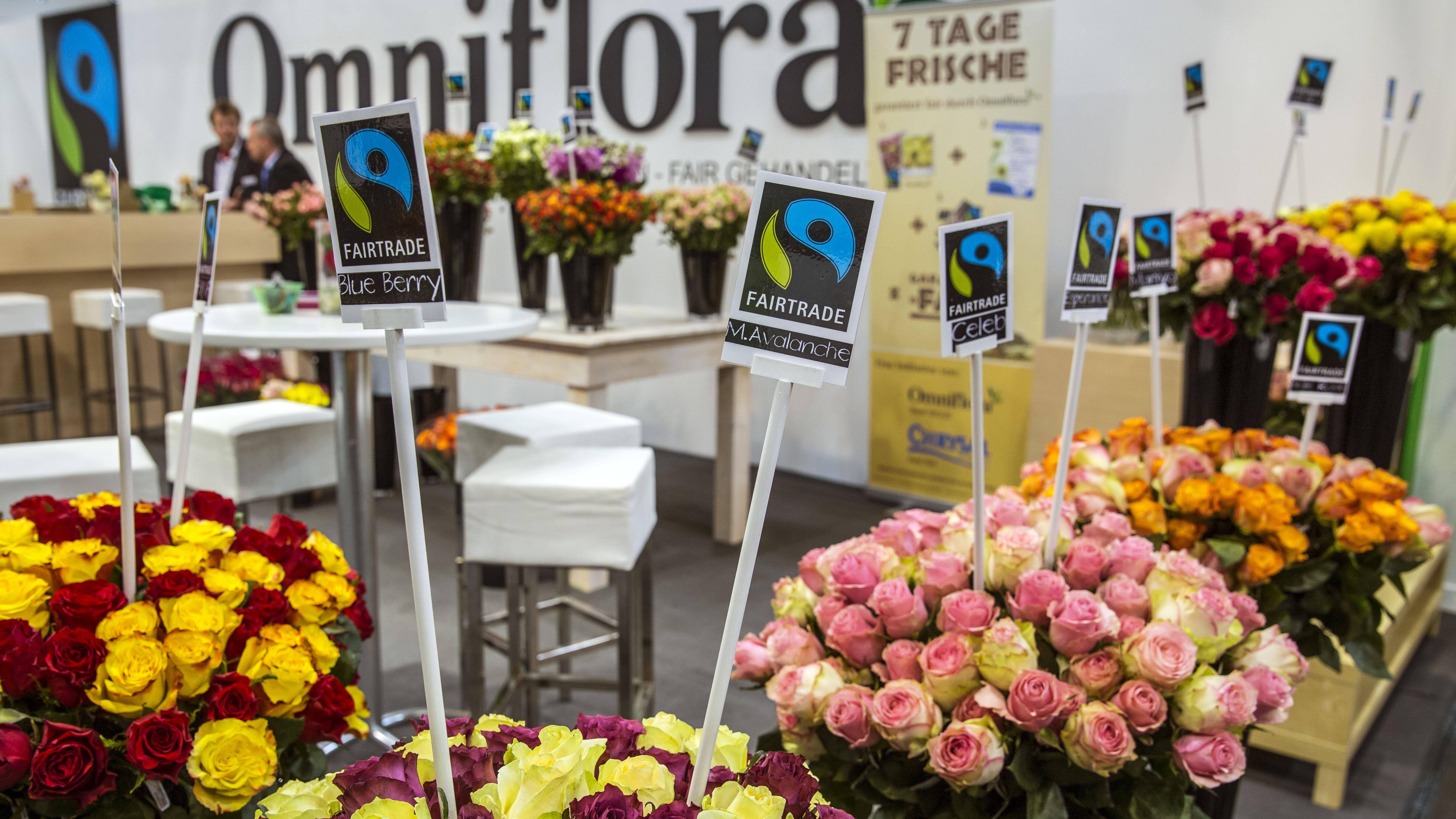 Fair gehandelte Blumen können Sie auch in Deutschland, wie hier in Essen, kaufen.