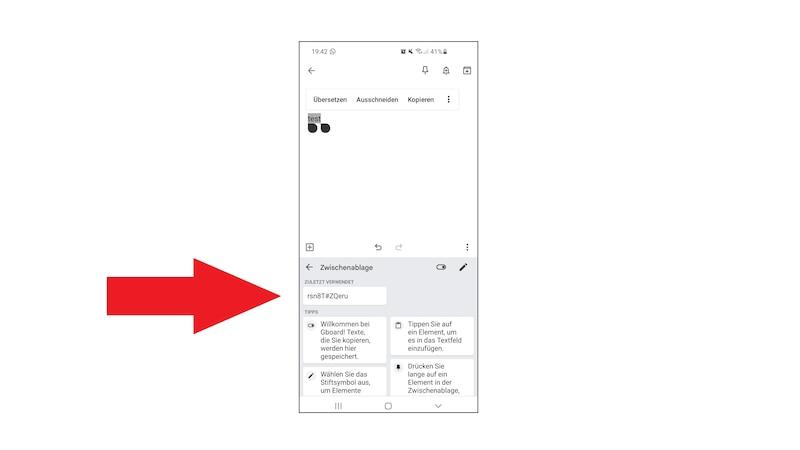 Android-Tastatur: Zwischenablage finden und löschen