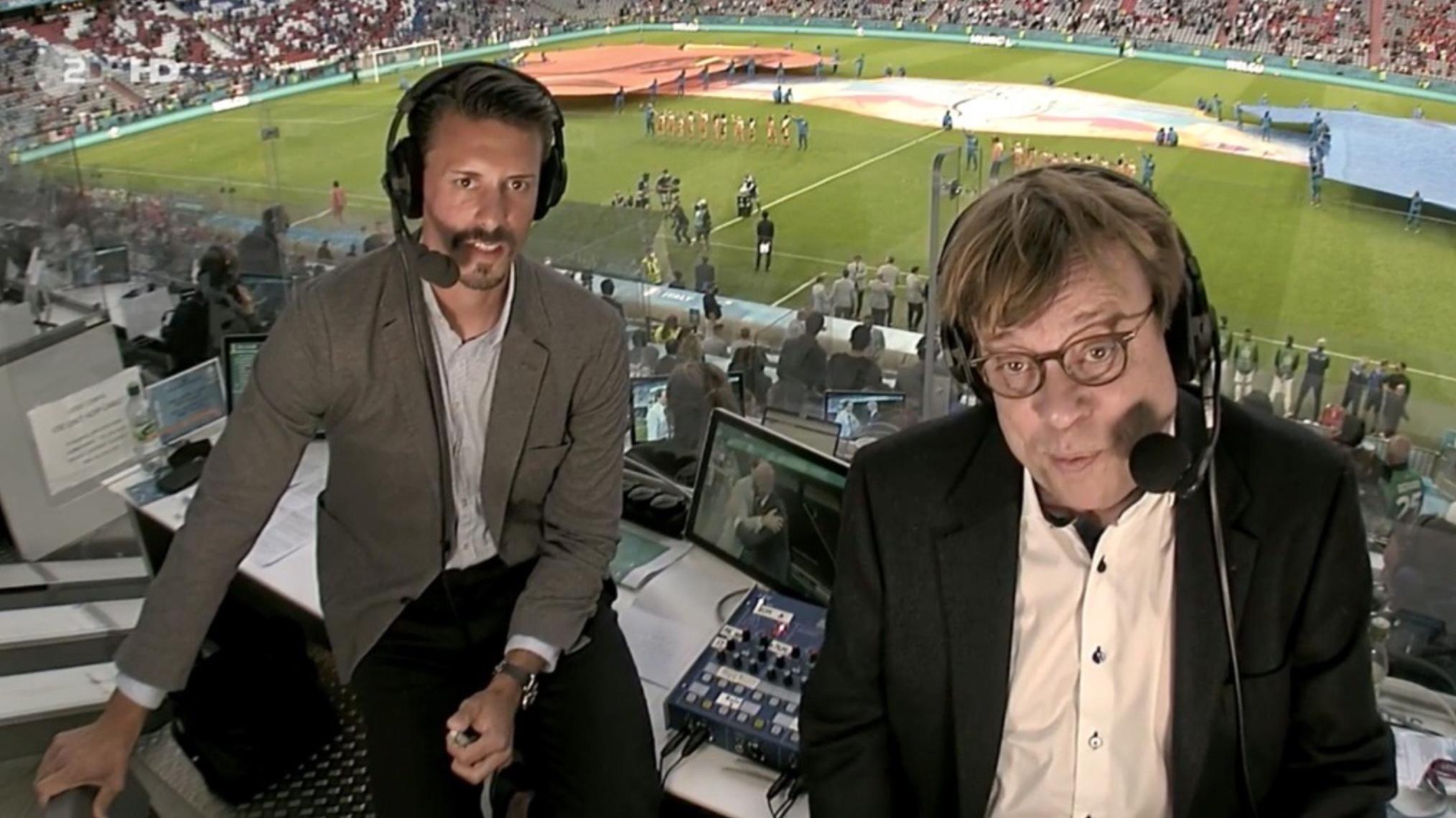 Kommentierten die EM 2020 im ZDF: Béla Réthy und Sandro Wagner