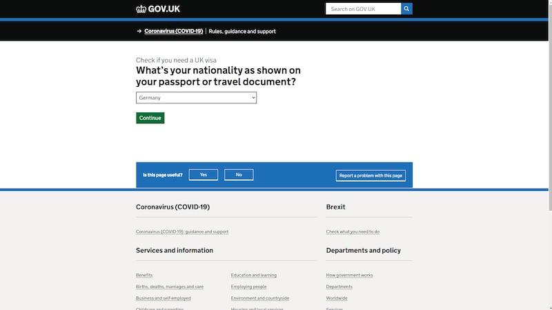 Visum für England beantragen: Offizieller Check