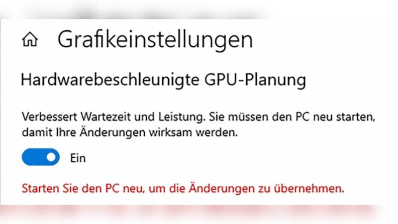 Mithilfe der Hardwarebeschleunigung entlasten Sie die CPU und beschleunigen Ihren Computer.