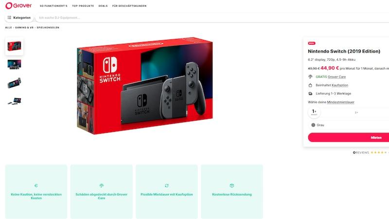 Grover: Nintendo Switch ausleihen