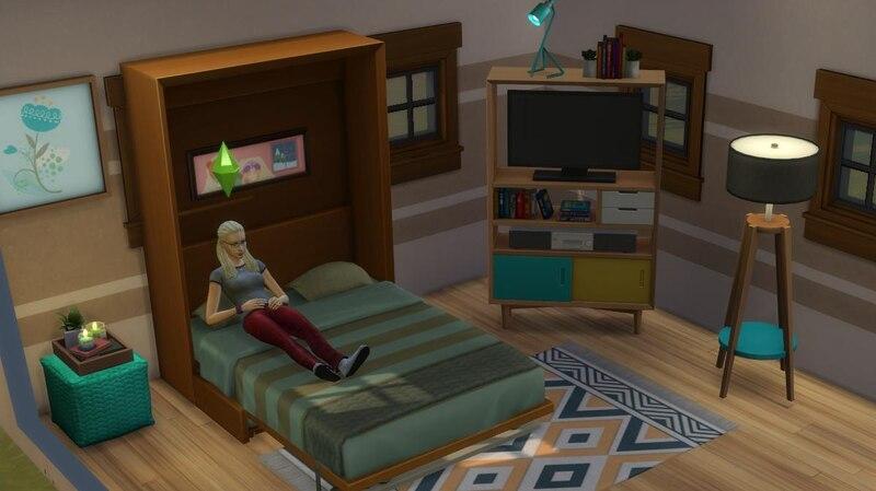 Das Tiny House Ihrer Sims können Sie mit vielen praktischen Möbel bestücken.