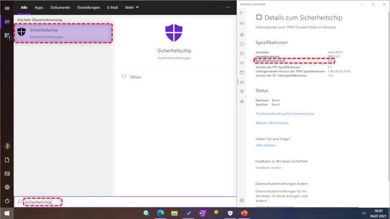 Wenn Sie TPM für Windows 11 aktivieren wollen, sollten Sie vorher die Version prüfen.