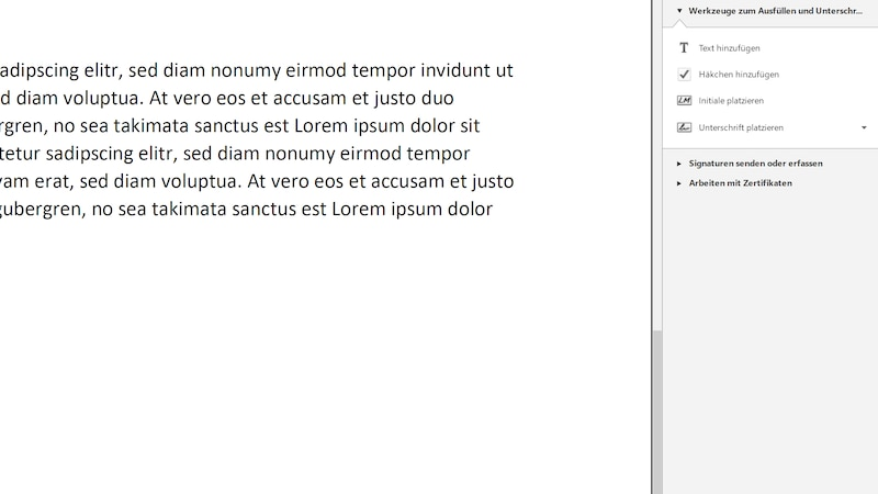 Im Adobe Reader können Sie ganz einfach ein PDF an einem Windows-PC unterschreiben.