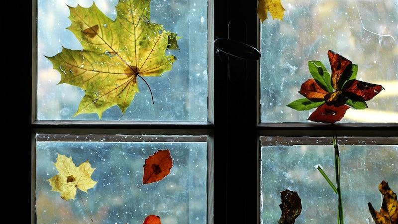 Fensterbilder Herbst: Bastelideen für Kinder
