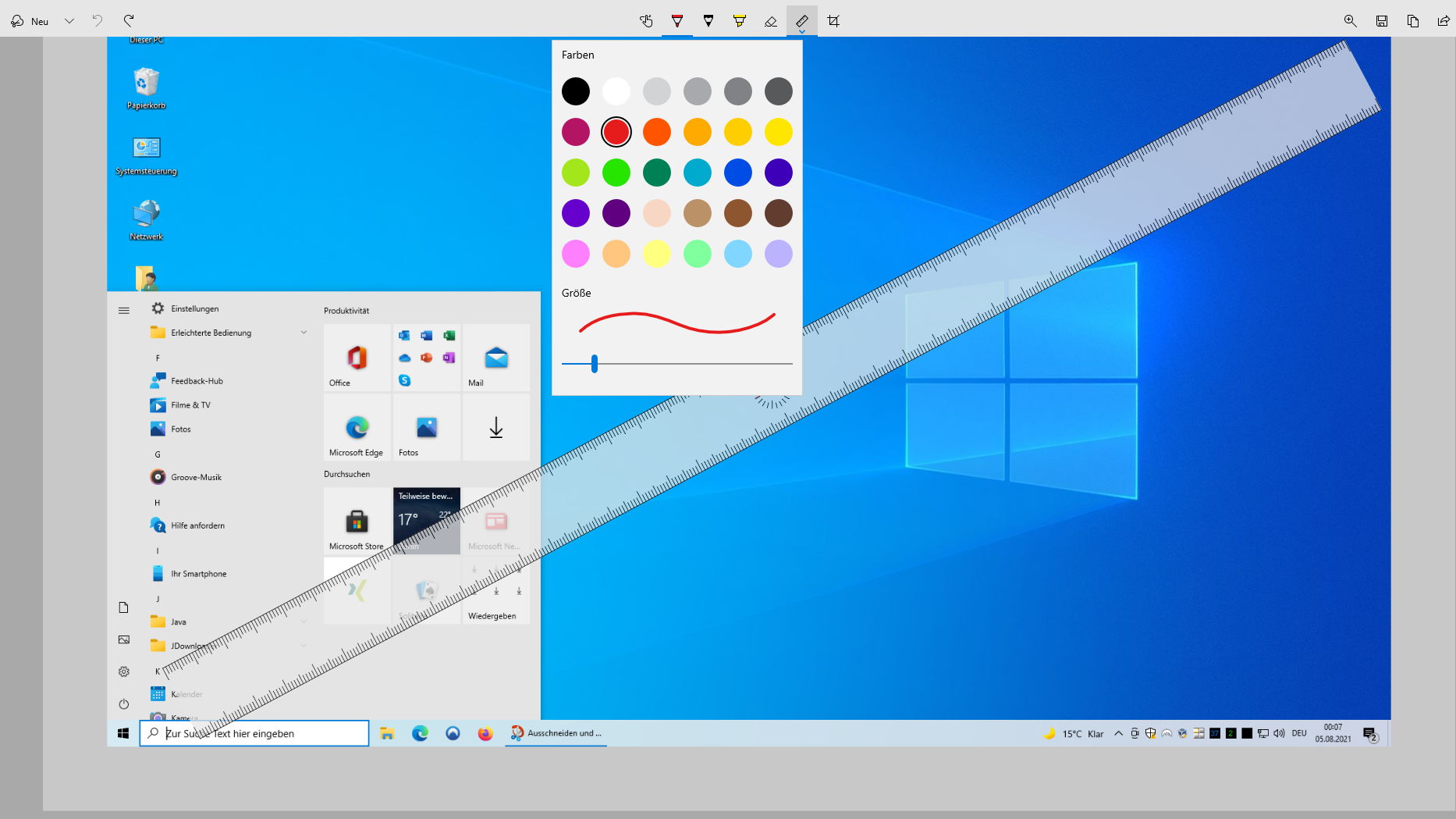 Windows 10: Ausschneiden & Skizzieren - so funktioniert das Tool