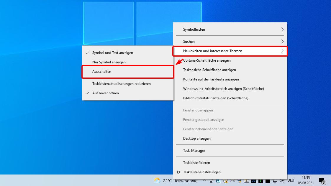 Sie können das Wetter Widget in Windows 10 deaktivieren.