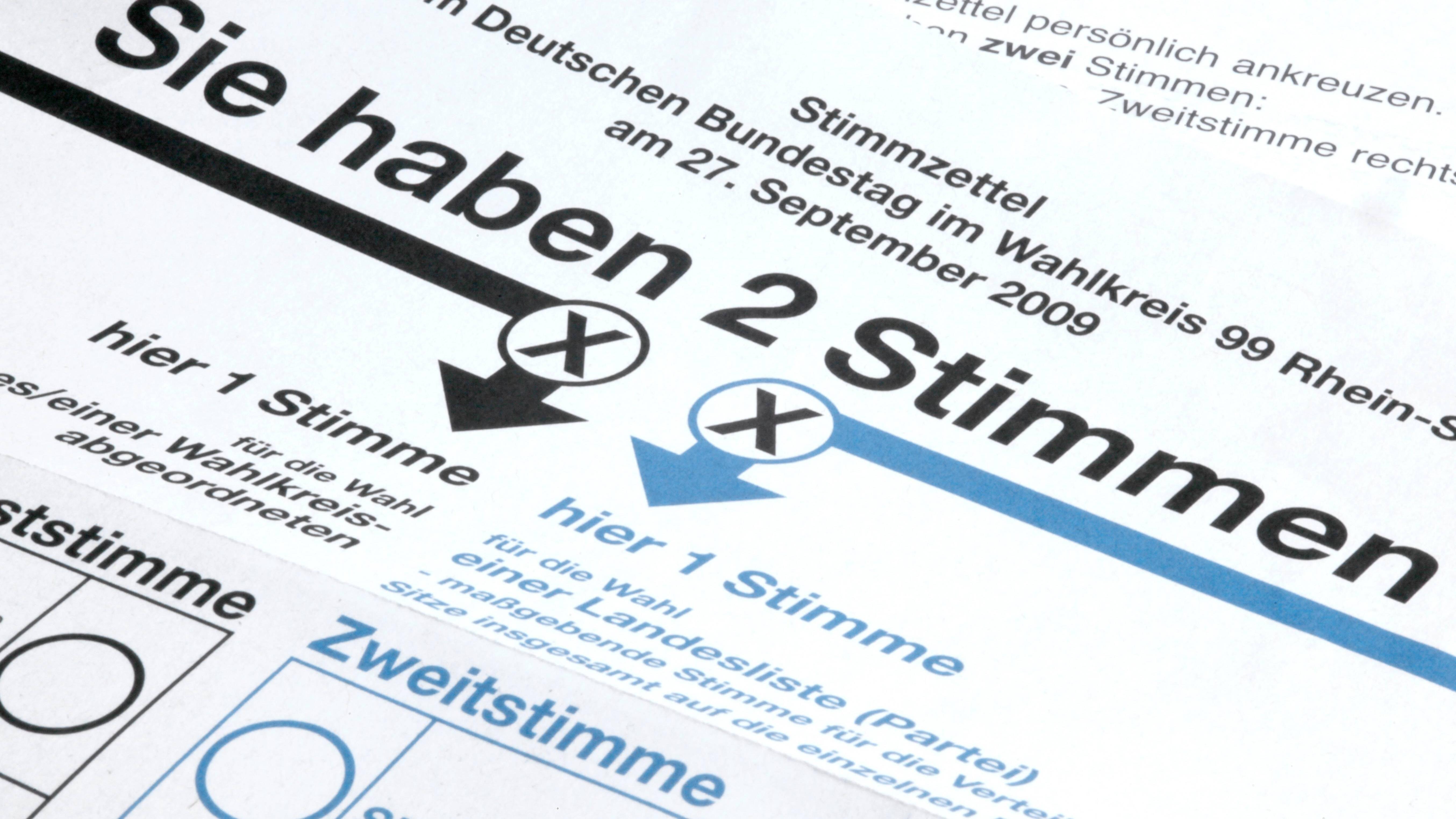 Ablauf der Bundestagswahl: Bis 18 Uhr sind die Wahllokale geöffnet. Hier gibt jeder wahlberechtigte Bürger zwei Stimmen ab.