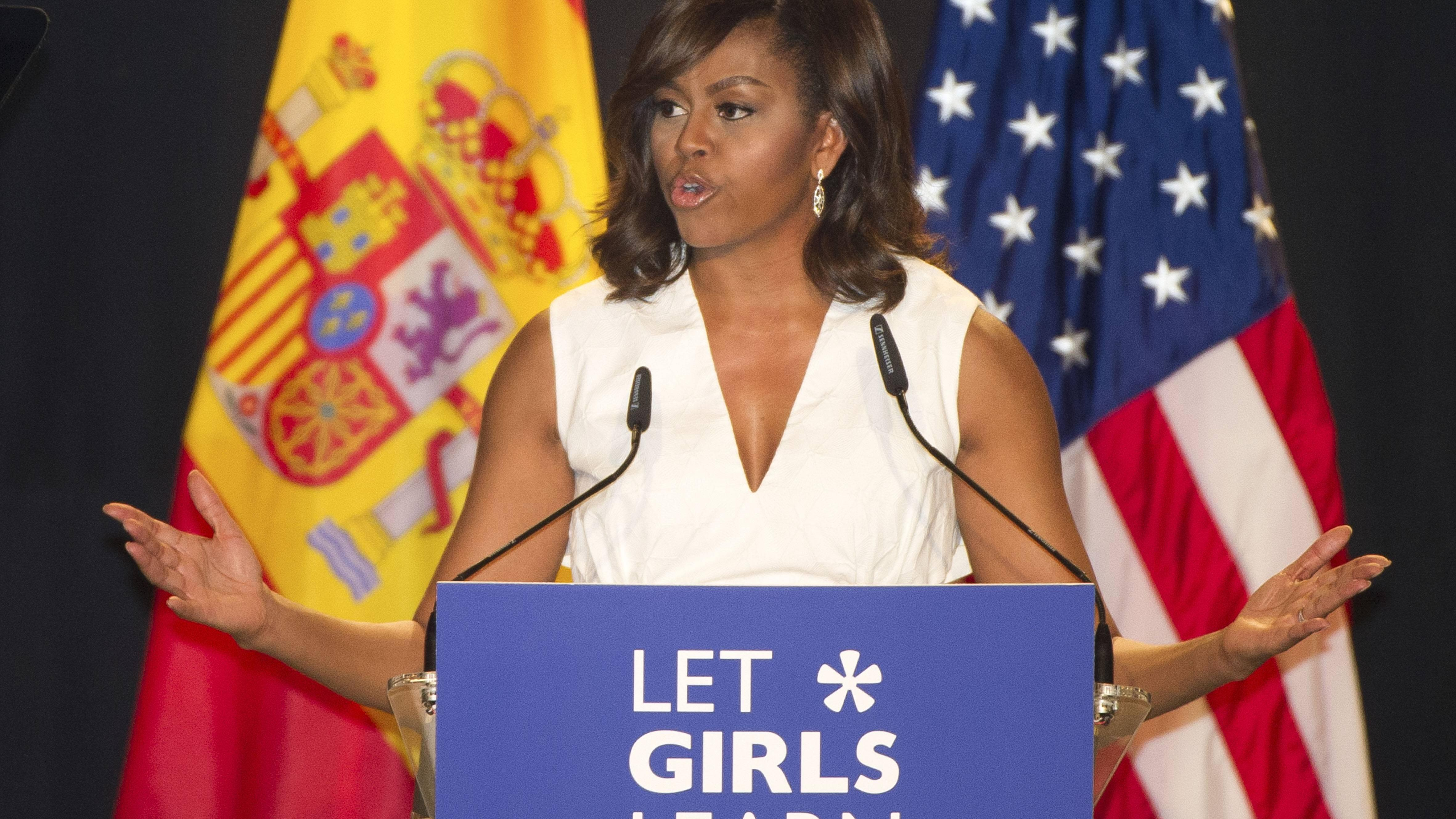 Michelle Obama gibt Ihnen ein starkes Zitat mit auf den Weg für Ihren Erfolg.