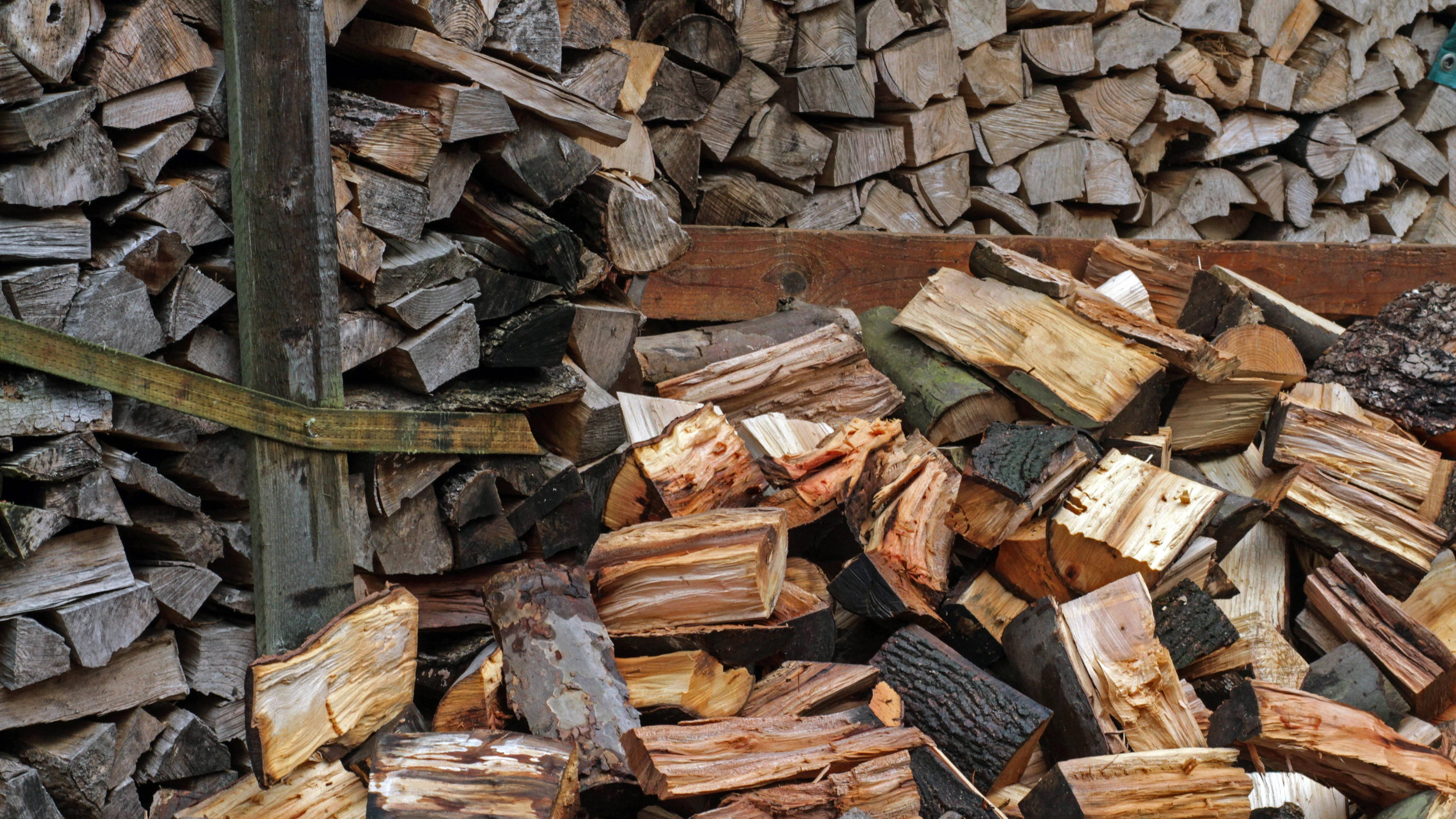 Ihr Feuerholz lagern Sie am besten in einem Unterstand.