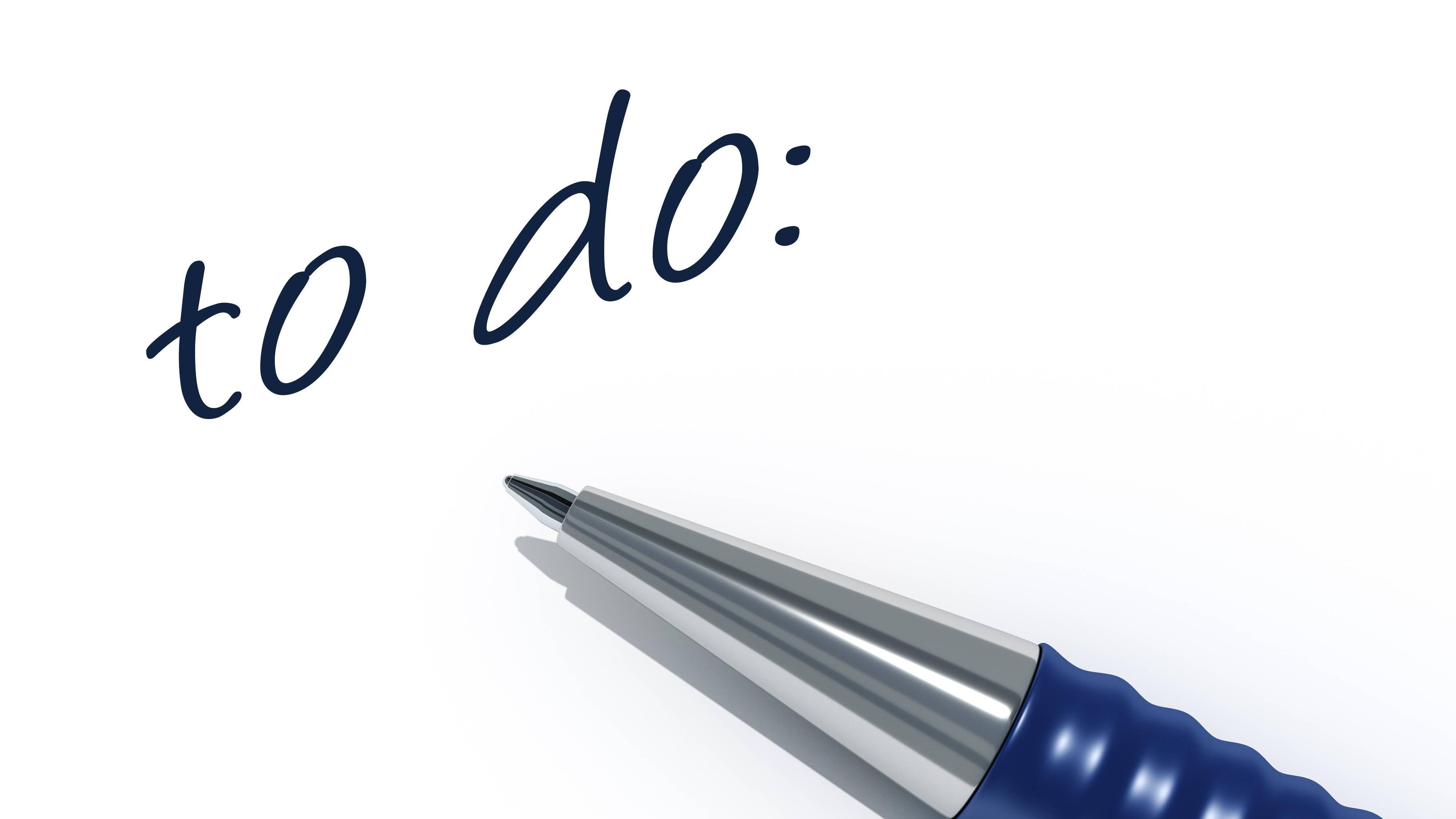 Routine entwickeln: Für den Anfang nicht zu viel vornehmen!