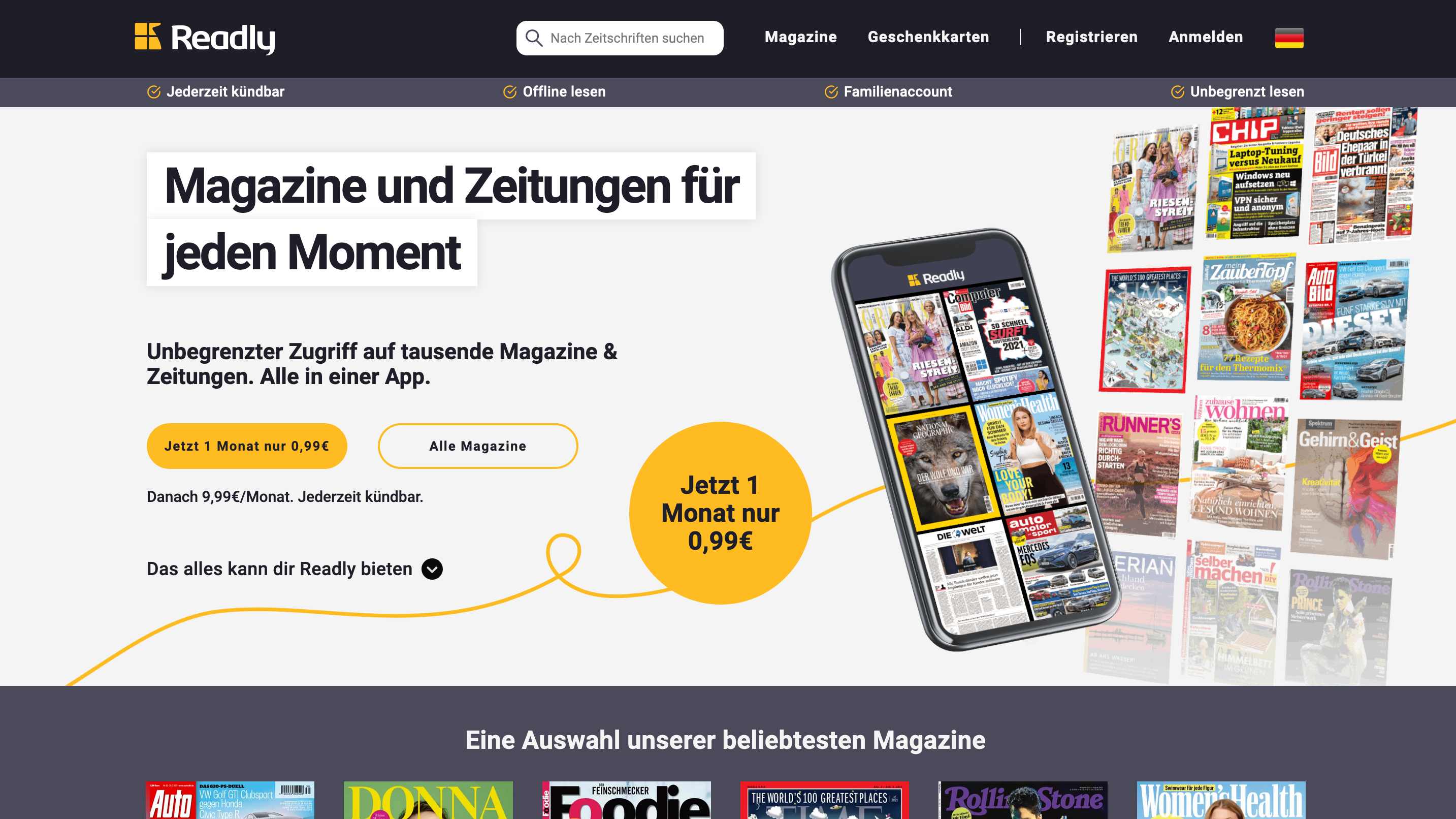eMagazines bei Readly