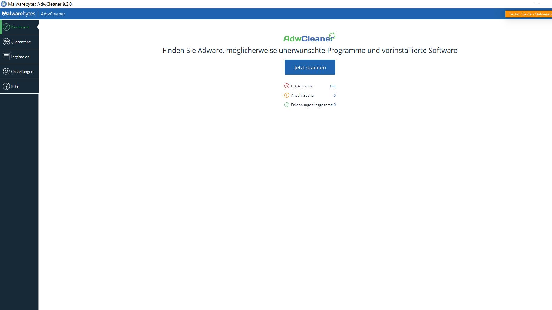 Adware mit AdwCleaner entfernen